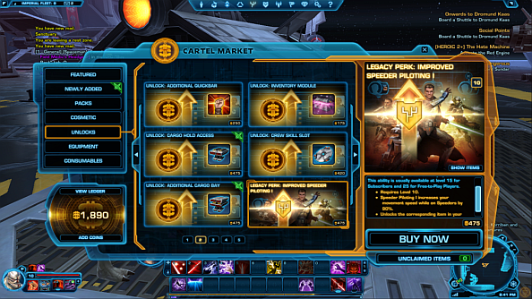You will be able to pay to encase yourself in carbonite when SWTOR goes free-to-play