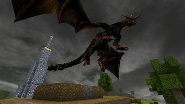 CastleMiner Z dragon