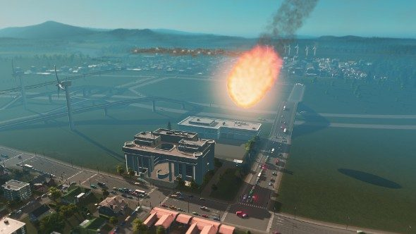 Cities: Skylines meteors