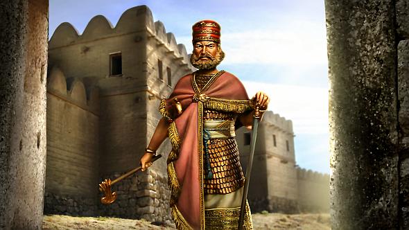 Janboruta's leader screen from Tomatekh's Hittite mod for Civ V