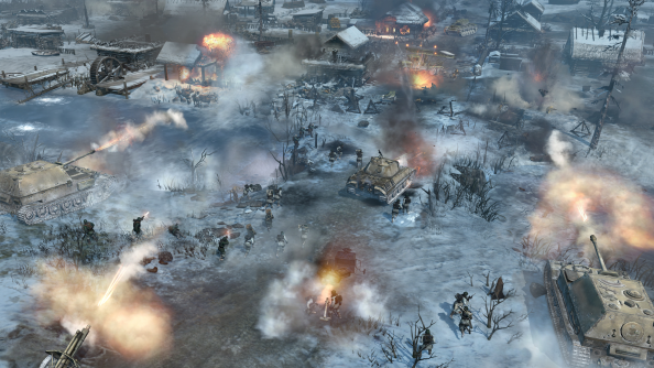 New Company of Heroes 2 screenshots show spectacular battles, explosions everywhere