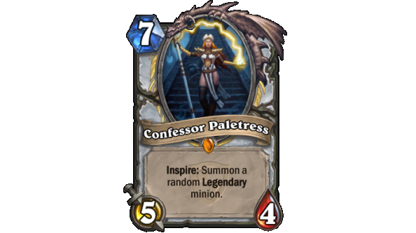 Best Hearthstone Legendary cards Confessor Paletress