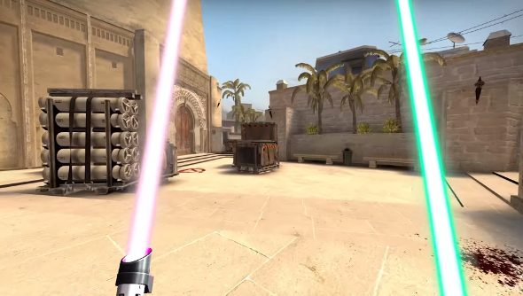 Counter-Strike lightsabers