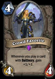 Crowd Favourite card