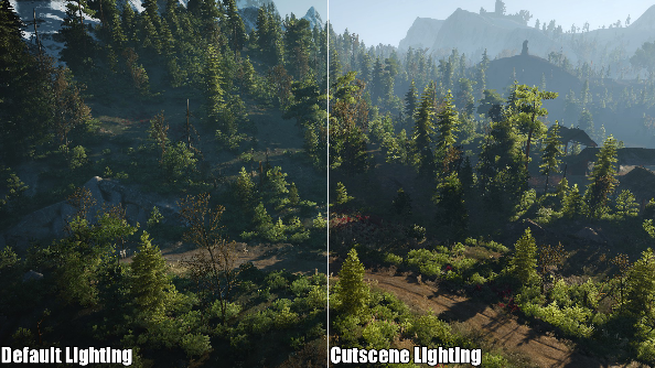 Cutscene lighting Witcher 3 mod