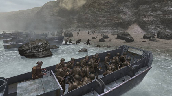 Call of Duty 2 D-Day landing