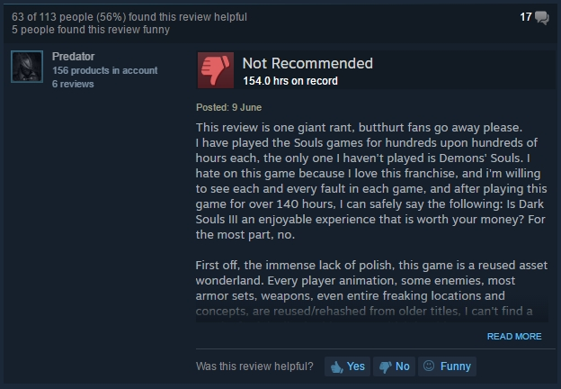 Dark Souls 3 Steam Review
