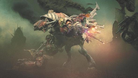 Dawn of War III Imperial Knight v wraith