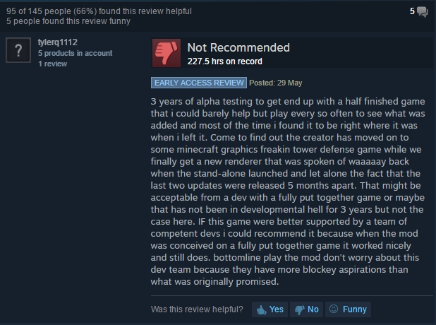 DayZ Steam review