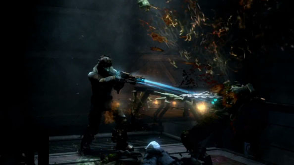 Dead Space 3 co-op trailer features toy soldiers. Freakily oversized toy soldiers