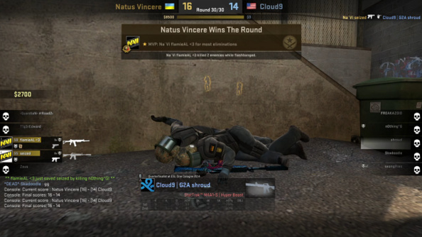 A pile of corpses at the end of C9's defeat