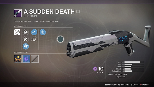 A Sudden Death, the Trials shotgun