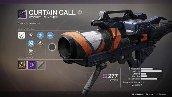 Destiny 2 Curtain Call