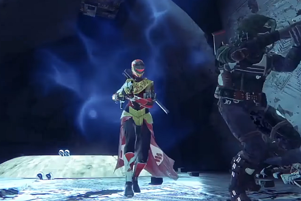 This Warlock is wearing New Monarchy gear