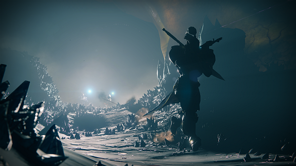 Exploring a Hive nest on Titan in the Savathun's Song strike