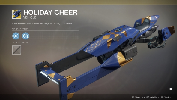 Destiny 2 The Dawning Holiday Cheer Sparrow