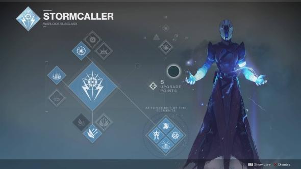 Destiny 2 Warlock Stormcaller skill tree