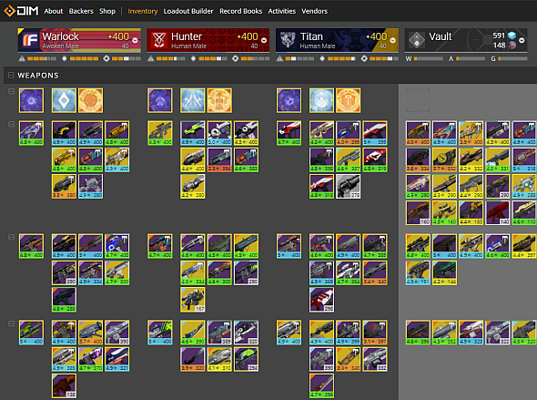 When your inventory looks like this, you need DIM