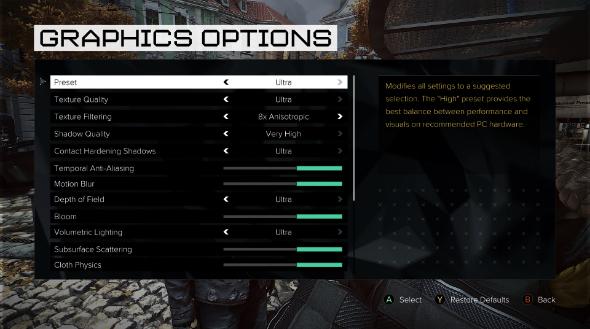 Deus Ex Mankind Divided PC graphics settings