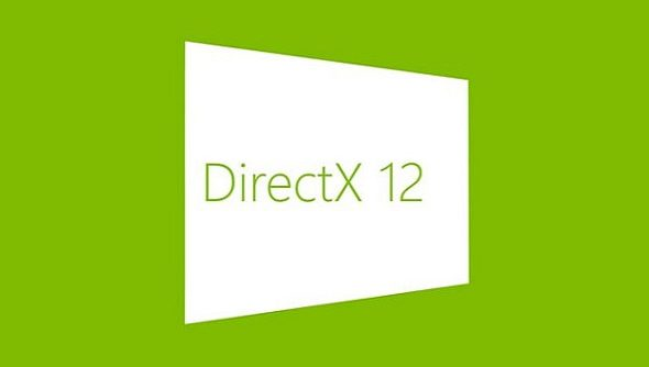 The DirectX logo in green on a white rectangle inside a matching spring-green background.