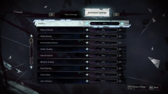 Dishonored 2 PC port review graphics menu