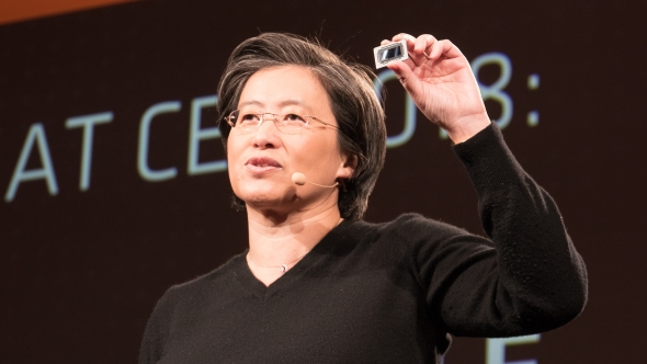 Dr Lisa Su with chip