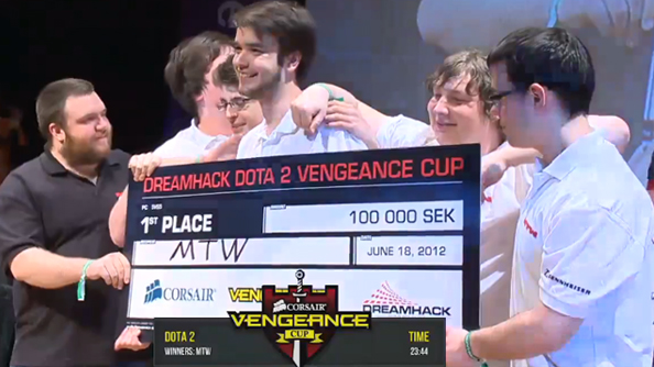 mTw take home the Dota 2 Vengeance trophy at Dreamhack
