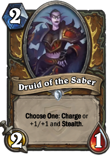 Druid of the Sabre card