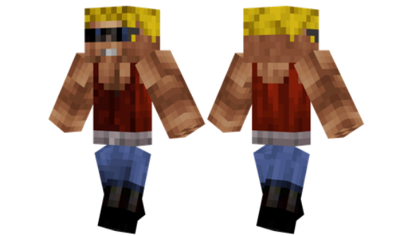 best minecraft skins Duke Nukem
