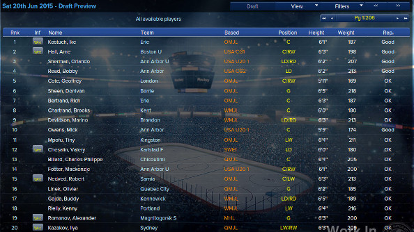 There are huge player databases in EHM.