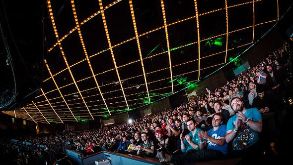 The crowd at ESL One in NYC last year