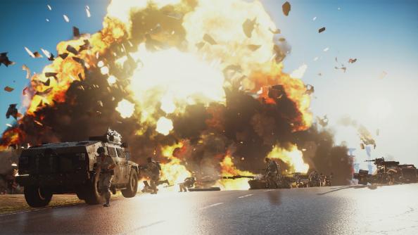 Just Cause 3 HUMVEE explosion