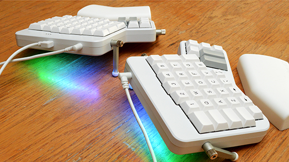 ErgoDox EZ ergonomic keyboard RGB lighting