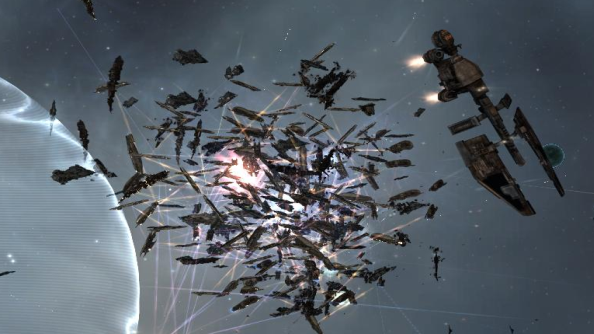 Huge super capital fight in EVE Online obliterates 500 billion ISK in ships