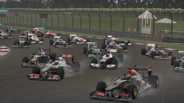 F1 2013 review, turn one at Malaysia