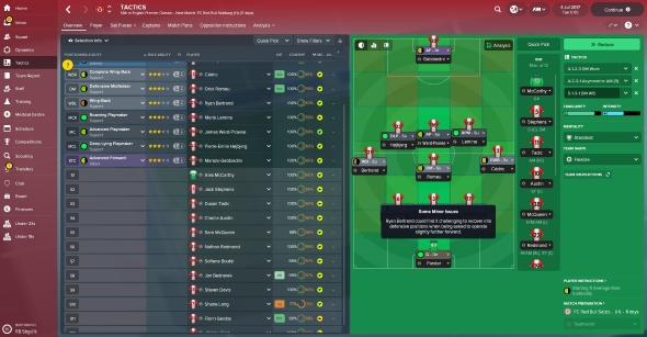 Football Manager 2018 tactics grid