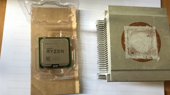 Fake AMD Ryzen CPU and Cooler
