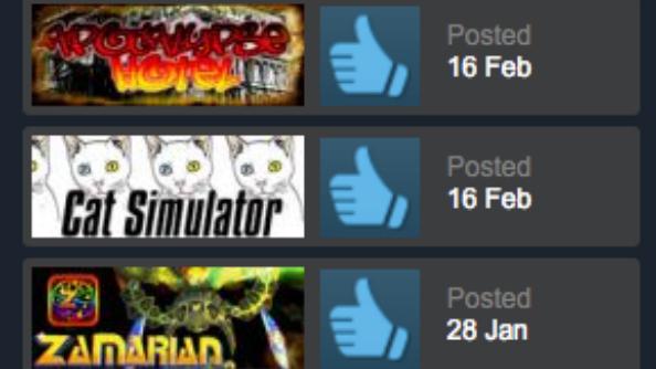 Fake Steam reviews