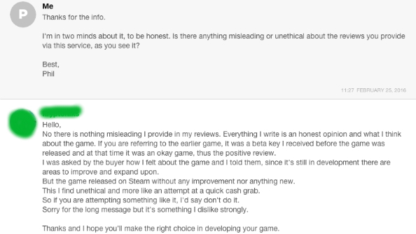 Fake Steam reviews 10