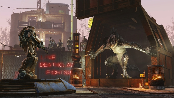Fallout 4 deathclaw fight
