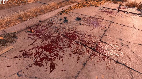 Fallout 4 Mod enhanced blood textures