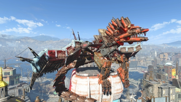 Fallout 4 settlements Scrap Dragon