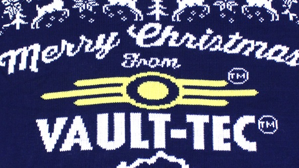 Vault Tec Christmas Sweater.Win A Fallout Christmas Jumper Get Ready For Nuclear
