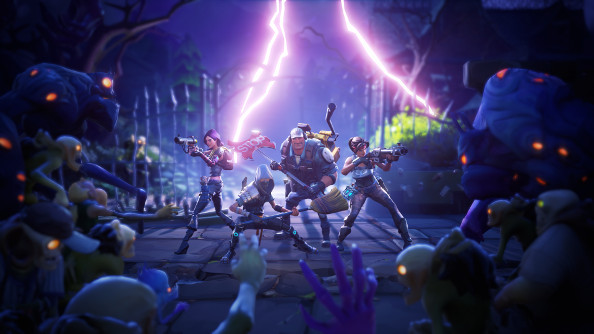 The fortnite team fighting to the death.