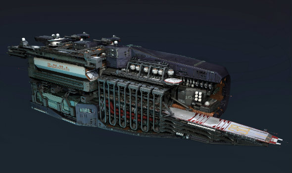 Fractured Space cross-section