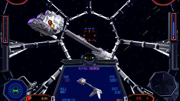 A Frigate flees a Star Destroyer