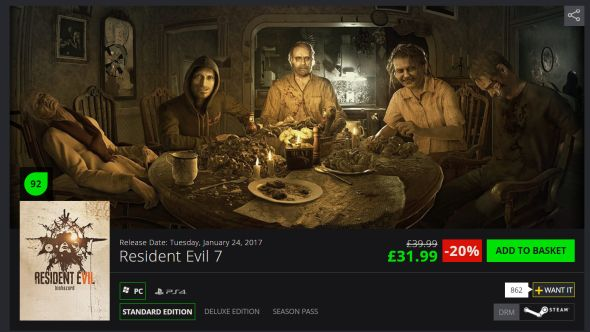 Resident Evil 7 discount