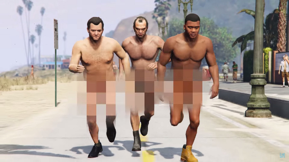 Blink 182 video recreated in GTA V