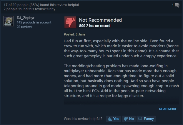 GTA V Steam review