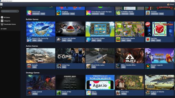 Facebook launches Steam-like Gameroom, targeting casual PC gamers